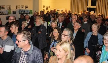 Book launch party at the village hall. Photo © Jonathan Brinton.