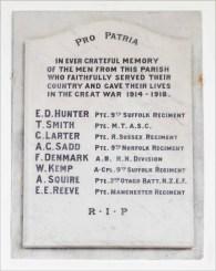 church WM WW1