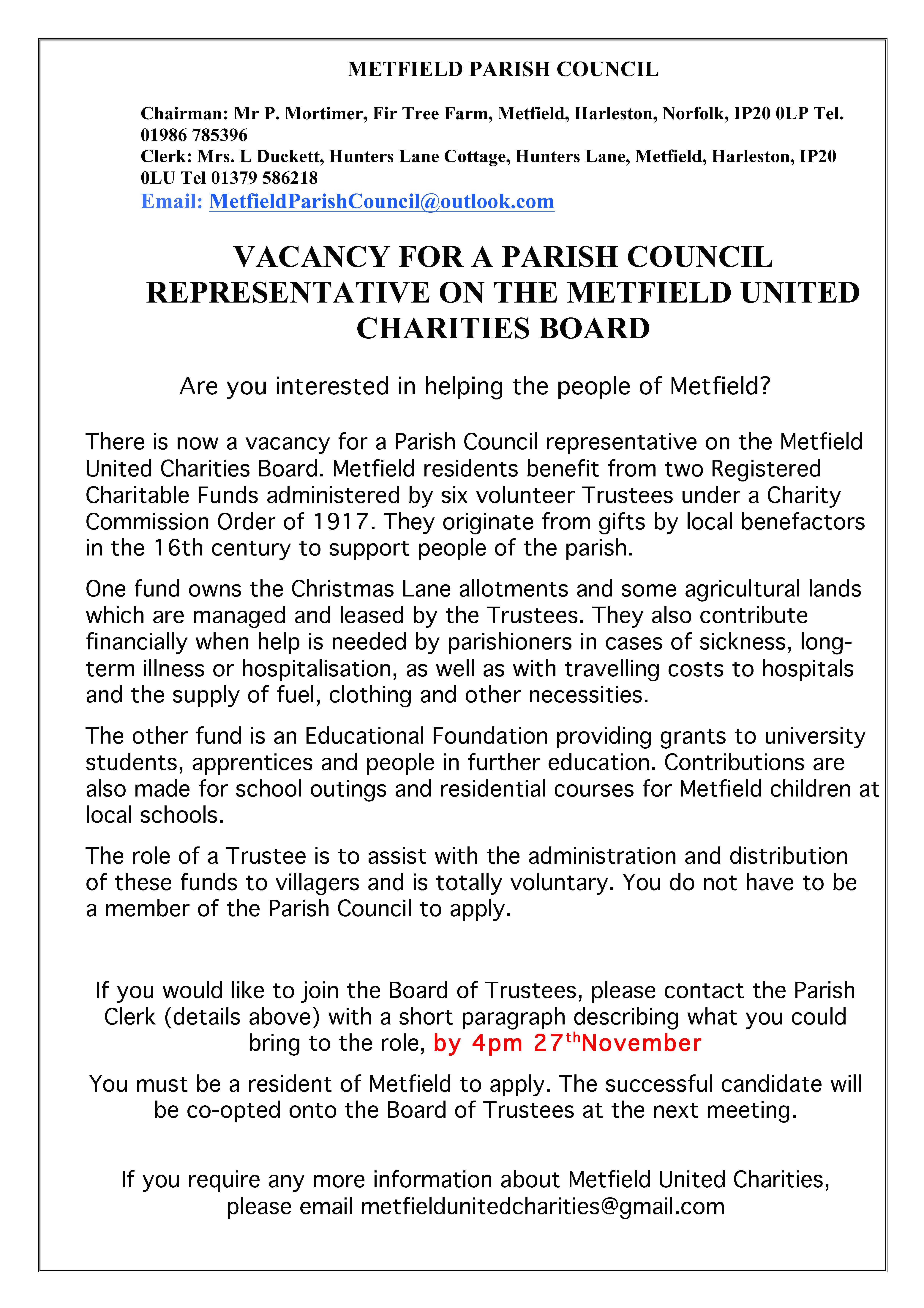 vacancy notice - MUC